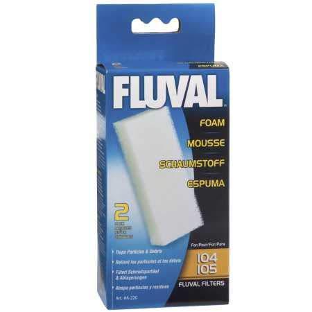 FluvFluval A-220 Filterschaumstoff für Fluval 104 und 105 Außenfilter, Filtermaterial, 2 Stück