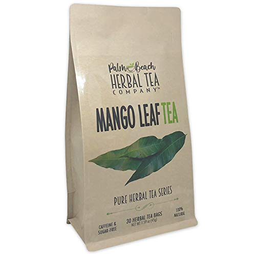 Mango Leaf Tea - Pure Herbal Tea Series by Palm Beach Herbal Tea Company (30 Tea Bags) 100% Natural
