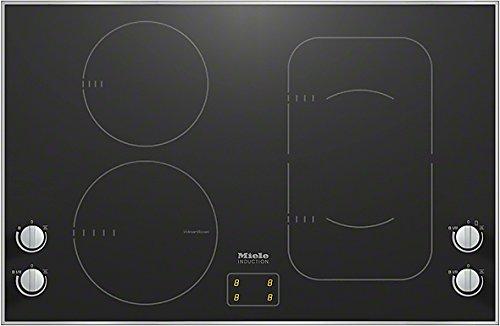 Miele KM6363-1 Kochfeld Elektro / Induktion / 80,6 cm / Einfache und direkte Steuerung Bedienung über Knebel / Ansprechendes Design 806 mm breit mit umlaufendem Rahmen / edelstahl