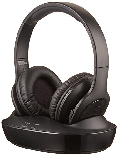 AmazonBasics Over-Ear Wireless RF Headphones with Charging Dock