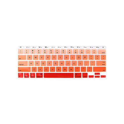 Protector de silicona para teclado ultra delgado y gradual Rainbow Candy para MacBook Air de 11 pulgadas de 11,6 pulgadas, color naranja