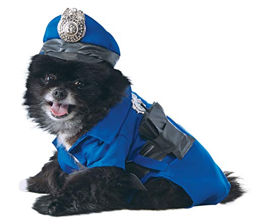 Rubie'S 885945X - Disfraz Oficial de policía para Mascotas, Color Azul, XL