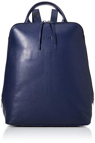 BREE Collection Damen Toulouse 8, Backpack M Rucksack, Blau (Navy), 16x33x28 cm