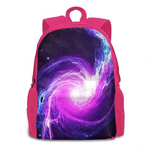 3d Purple Nebula Galaxy Multipurpose Backpack Daypacks Bookbag For Women Men Kids