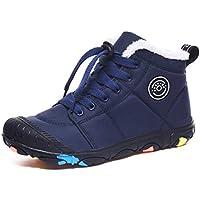 Veluckin Botas de Nieve Niños Resistencia al Agua para Botas de Invierno Botas de Calentamiento de Piel Botas de Tobillo Zapatos,Azul,31 EU