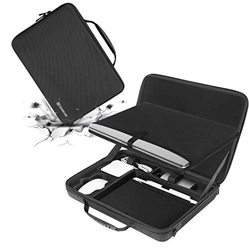 Smatree Macbook Pro 16-Zoll-Aktentasche Umhängetasche, Laptop-Hartschale für 16 zoll /15.4 zoll Macbook Pro, HP OMEN 15-en0008na 15,6 Zoll, iPad 9,7 Zoll, mit Zubehörfach, Schwarz