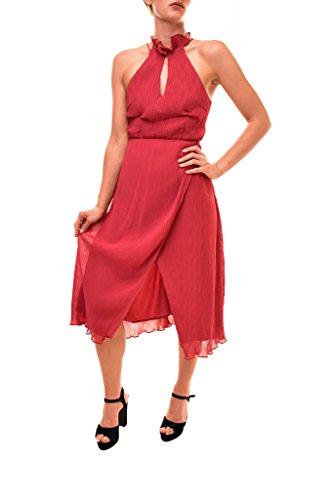 Keepsake the Label Damen Skylines Sleeveless Crossover Hem Midi Dress with Front Slit Cocktailkleid, scharlachrot, Groß