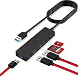 USB 3.0 Hub, TSUPY Ultra Slim USB Splitter Card Reader with 3.9 ft
