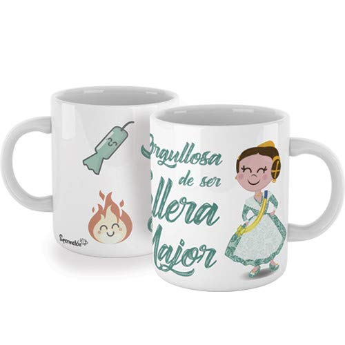 "SUPERMOLON Taza""Orgullosa de ser Fallera Major"""