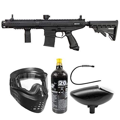 Maddog Tippmann Stormer Elite Dual Fed Bronze Paintball Gun Marker Starter Package - Black