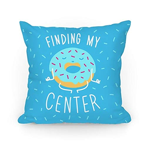 Jacklee Funda de cojín para sofá con Finding My Center, decoración del hogar, 45,7 x 45,7 cm
