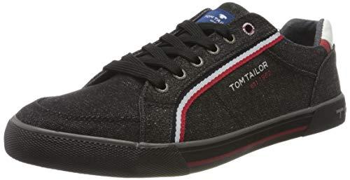 TOM TAILOR Herren 8080810 Sneaker, Schwarz (Black 00001), 41 EU