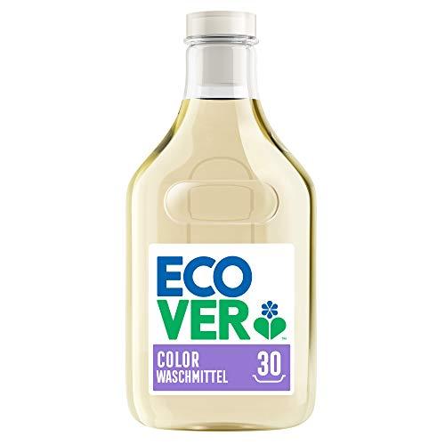 Ecover Waschmittel Color Apfelblüte & Freesie (1,5 L/30 Waschladungen), Flüssigwaschmittel mit pflanzenbasierten Inhaltsstoffen, Colorwaschmittel für Erhalt und Schutz der Kleidung
