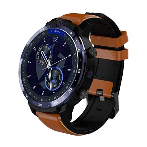 LEMFO LEM12 Smart Watch, Sport Fitness Tracker Armbanduhr, 4G Network, Face ID, 2 Kameras, 1.6 '' Full Screen, 3G +32G, GPS WiFi, Männer Frau