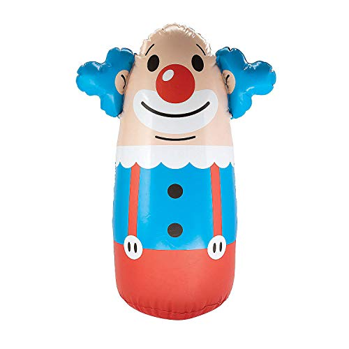 Inflatable Clown Punching Bag - 3 Feet Tall - Stand up toy for Kids - Circus Party Games