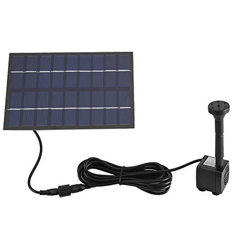 Zerodis Bomba de Fuente Solar, Panel Solar Fuente de Agua Sumergible Bomba Sumergible para Piscina de Estanque de Peces