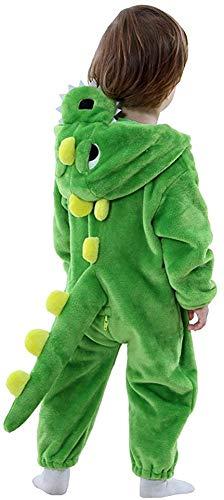 LOLANTA Disfraz de Dinosaurio bebé, Pijama Onesie de Franela con Capucha de Vaca Fox, Disfraz de Halloween Regalo de cumpleaños de Navidad…