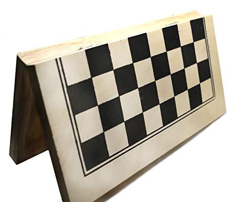 Ajedrez de Madera básico para iniciarse y de Viaje. Es Plegable y con Apliques metálicos. Tablero 21 x 21cm. Piezas Incluidas.