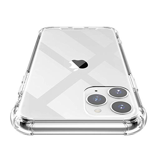 Shamo's iPhone 11 PRO MAX Case Clear Transparent TPU Bumper Anti-Scratch Shock Proof Cover Reinforced Edges, HD Crystal Clear