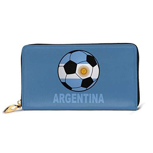 UXZTU Argentina Soccer Fashion Women Carteras de Cuero Zipper Clutch Purse