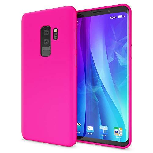 NALIA Handyhülle kompatibel mit Samsung Galaxy S9 Plus, Ultra-Slim TPU Silikon Neon Hülle, Dünnes Cover Gummi Schutzhülle Skin, Etui Handy-Tasche Backcover Smartphone Bumper, Farbe:Pink
