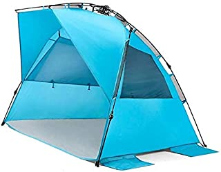 Interesting Instant Beach Tent Outdoor Sun Shelter Waterproof Shade Canopy Pop-Up Tarps Tents for Sports Hiking Travel Rainfly-2 People