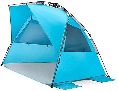 YUQIYU Playa instantánea Tienda al Aire Libre Sun Refugio a Prueba de Agua Sombra del pabellón Pop-Up Lonas Carpas de Deportes Viajes de Senderismo Rainfly-2 Personas