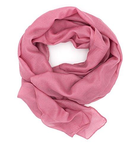DOLCE ABBRACCIO by RiemTEX DOLCE ABBRACCIO by RiemTEX WILD CAT Damen Schal Halstuch Tuch aus Chiffon für Frühling Sommer Ganzjährig (Hot Pink)