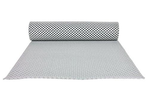 Kela Antirutschmatte CORETTA 150 x 30 cm Schubladenmatte, rutschhemmende Unterlage, Kofferraummatte, Teppich-Stopp, Anti-Slip-Pad, Unterlegmatte, PVC-Kunststoff, grau, individuell kürzbar