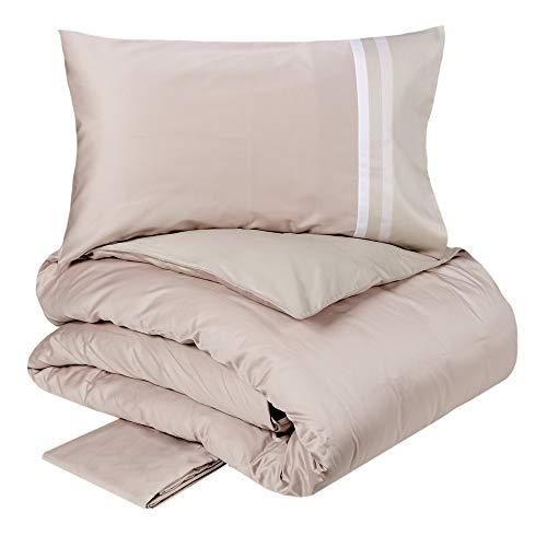 Fazzini Kubric 60 - Juego de funda nórdica reversible para cama de 2 plazas, color rosa y turquesa