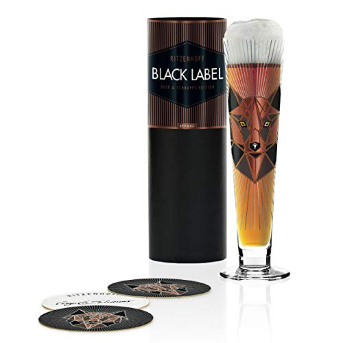 RITZENHOFF 1010249 Black Label Bierglas, Glas, 385 milliliters