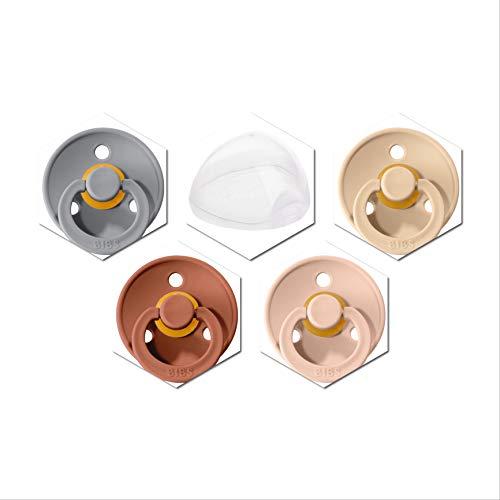 4 Bibs Schnuller Colour, Größe 1 (0-6 Monate) Starter-Set für Mädchen inkl. einer stylischen Schnullerbox von JJLS
