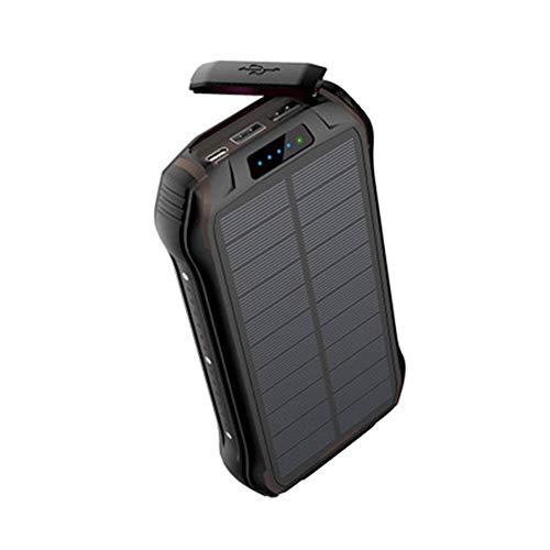 GPWDSN Solar 26800 mAh waterdichte oplader op zonne-energie met 2 ingangen en 3 uitgangen, zonne-energiebank, externe batterij, solar powerbank voor smartphones, mobiele telefoons, outdoor activiteiten