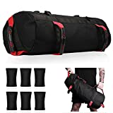 Aophire Sandbags for Fitness with 6 Removable Filler Bags,Thickened Weighted Sandbags for Home Exercise Sandbag Workout Bag with 6 Rubber Gripping Handles