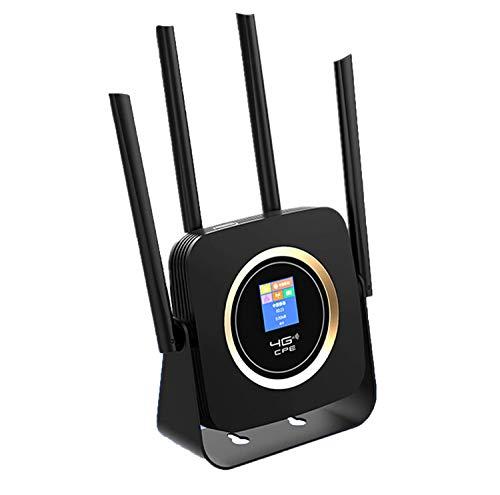 KuWFi Router 4G Portatile, LTE WiFi Router 4G con Batteria 3000Mah Scheda SIM LTE/FDD Router Wireless Modem Hotspot Antenna Esterna