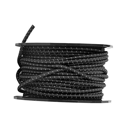 OKAT Cuerda de cordón Reflectante, Cuerda de Tienda Fuerte, Bolsa de Oso para línea de Tienda(Black Reflective)