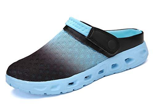 CELANDA Siatkowe sandały męskie damskie wsuwane oddychające buty z siatki letnie chodaki buty ogrodowe na co dzień kapcie plażowe na zewnątrz sportowe kapcie dla unisex, - Jasnoniebieski - 43 EU