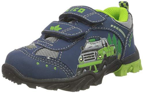 Lico MONSTERTRUCK V BLINK Unisex Kinder Sneaker, Marine/ Lemon, 27 EU