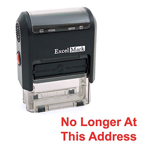 NO Longer at This Address Self Inking Rubber Stamp - Red Ink (ExcelMark A1539)
