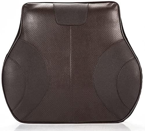HTDHS Auto Lendenkissen, Memory Foam Back Support Kissen Ergonomisches Design PU-Leder Atmungsaktive Mesh-Abdeckung für Bürostühle Autositzkissen (13,7 * 11 * 4.3in) (Color : Dark Brown)