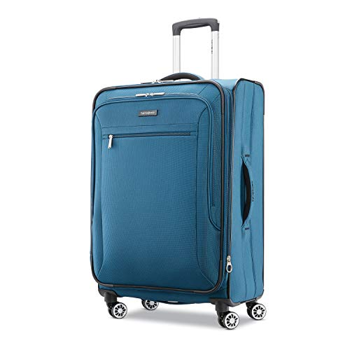 Samsonite Ascella X 25u0022 Medium Checked Expandable Luggage with Dual Spinner,Teal