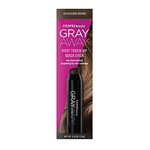 Everpro Gray Away Root Touchup Quick Stick Blk/dk Brwn 0.10oz, 0.10 Oz