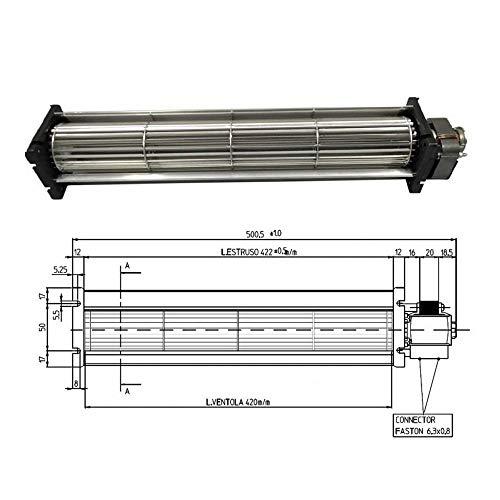 Ventilatore Tangenziale Stufa A Pellet Tga 60/3-420/20 Emmevi Fergas 138551 25w