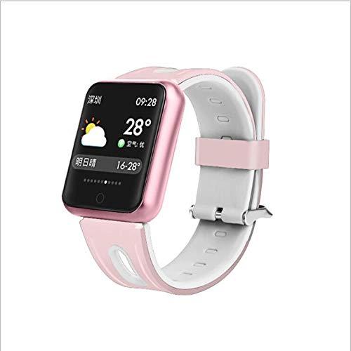 NUNGBE Pulsera Inteligente, rastreador de Fitness Deportivo para Mujer, Monitor de frecuencia cardíaca, presión Arterial IP68 Pulsera Inteligente a Prueba de Agua-Silica_Pink