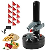 Electric Potato Peeler Rotato Express Stainless Steel Automatic Rotating Fruits Fruit Potato Peeler Vegetables Cutter Apple Paring Machine Kitchen Peeling Tool with 13 Replacement Blades