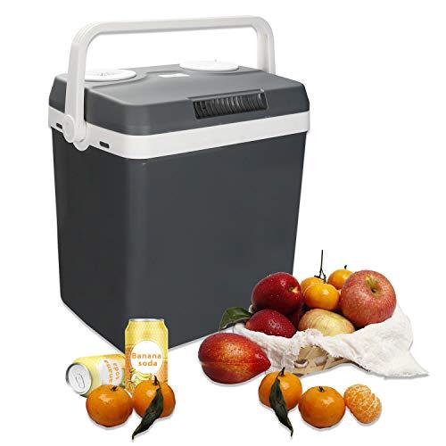 Hengda 32 Liter Kühlbox, WÄRMT und KÜHLT, tragbare thermo-Elektrische Kühlbox 12 V und 230 V, Mini-Kühlschrank für Auto, Lkw, Camping, Steckdose