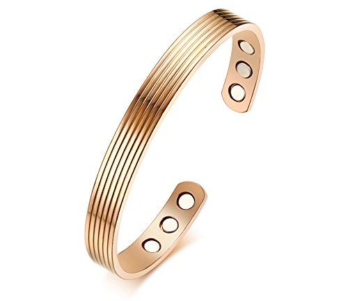 VNOX Kupfer Magnetische Manschette Armreif für Männer Frauen Schmerzlinderung