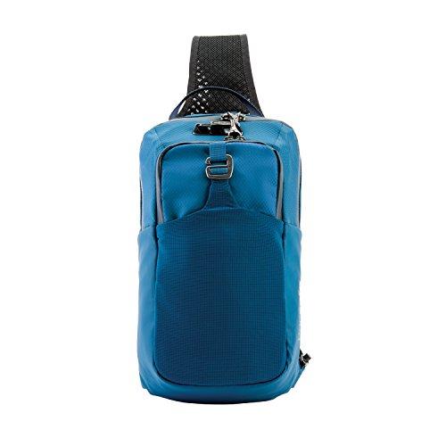 Pacsafe Venturesafe X Sling Pack Anti-Diebstahl Umhängetasche für Rechts- als auch Linkshänder geeignet, Diebstahlschutz - Sling Bag, Blau/Blue Steel