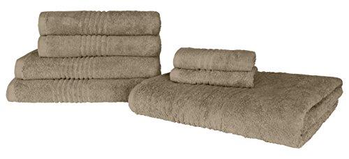 Juego de toallas 6 toallas de algodón egipcio 100 por 100 de 550 gr hilado en anillo - NOVEDAD 2020