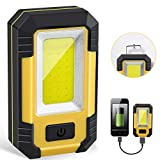 Portable LED Work Light, Rechargeable Waterproof Flood Light, COB...